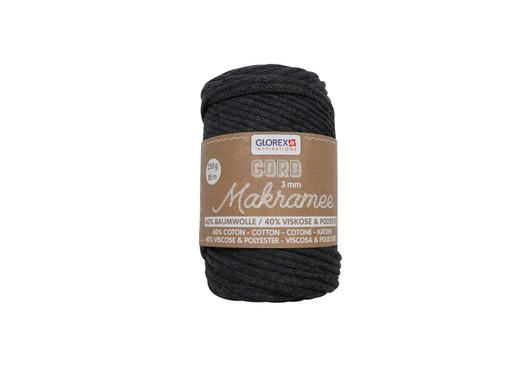 Makramee Cord, 3mm, 250g, Anthrazit