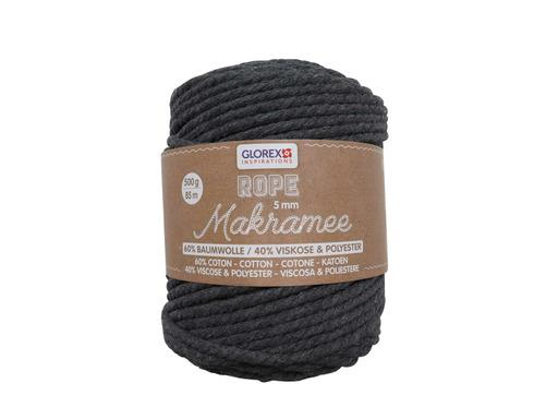 Makramee Rope, 3mm, 250g, Anthrazit