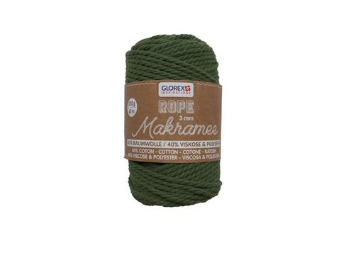 Makramee Rope, 3mm, 250g, Oliv